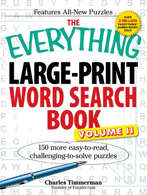 The Everything LargePrint Word Search Book, Volume II EB9781440510267