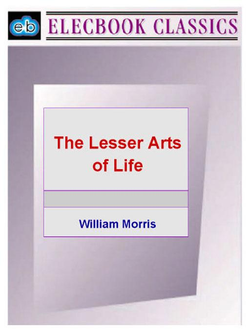 The Lesser Arts of Life EB9781843270157