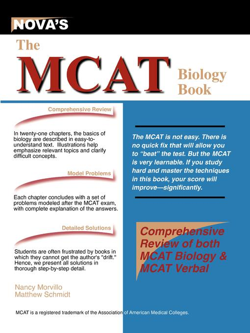 The MCAT Biology Book EB9781889057446