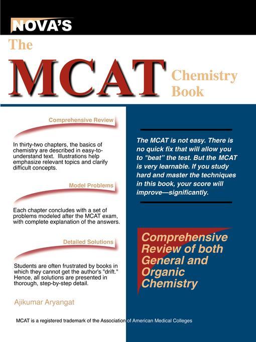 The MCAT Chemistry Book EB9781889057453
