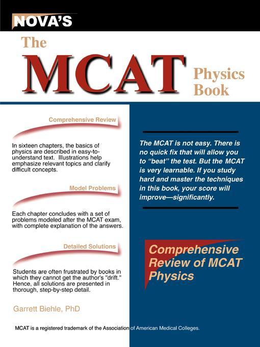The MCAT Physics Book EB9781889057439