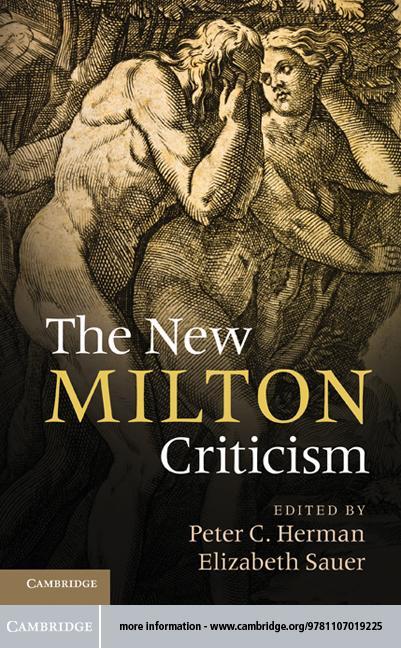 The New Milton Criticism EB9781139369145