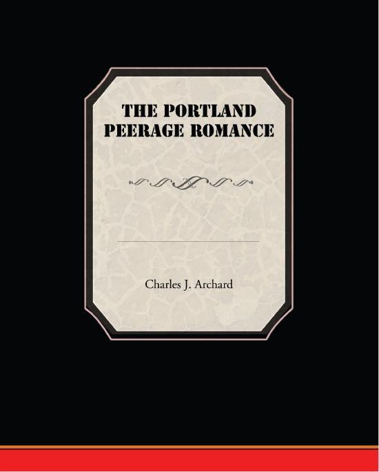 The Portland Peerage Romance EB9781438590462