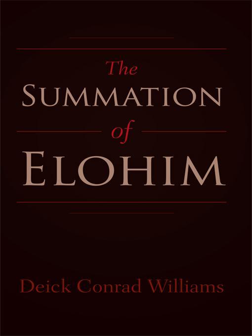 The Summation of Elohim EB9781462016501