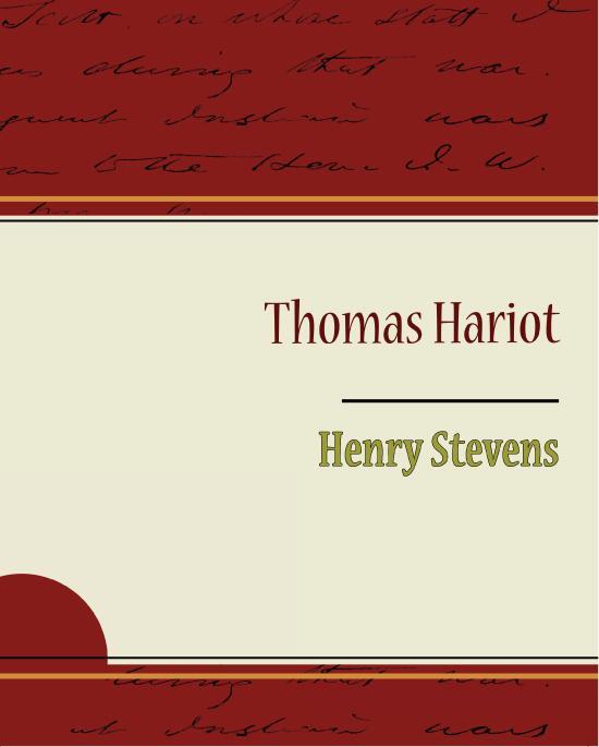 Thomas Hariot EB9781438589527