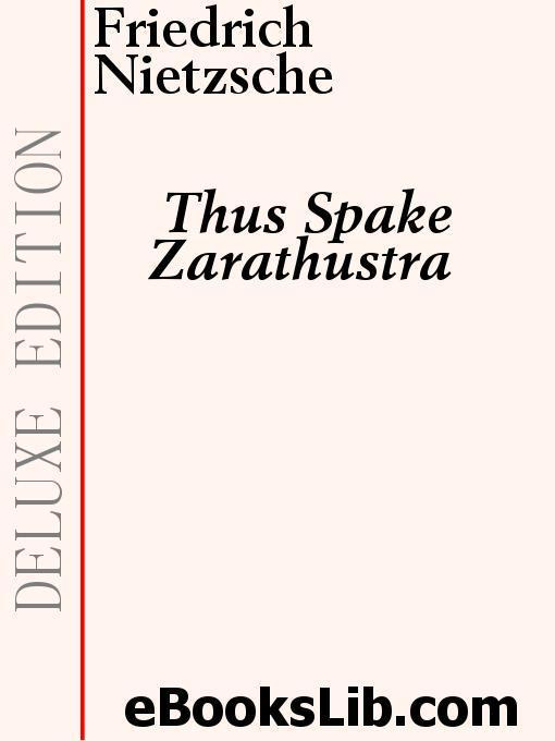 Thus Spake Zarathustra EB9781554453733