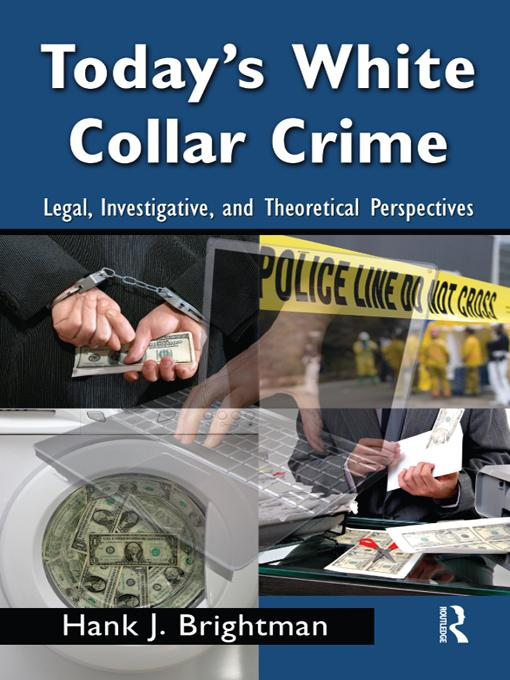 Today's White  Collar Crime EB9781135843526