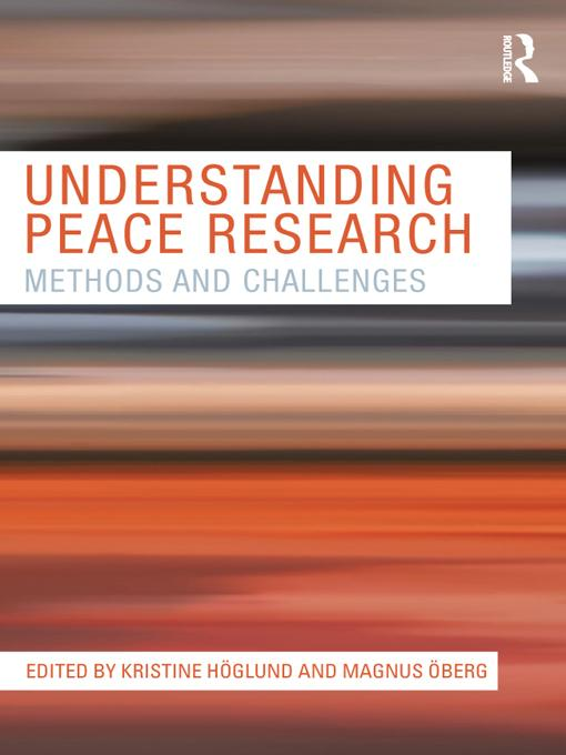 Understanding Peace Research EB9781136809132