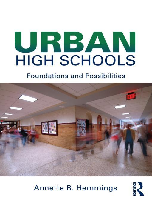 Urban High Schools EB9781136835872