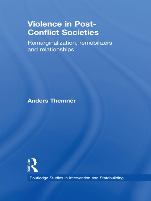 Violence in Post-Conflict Societies EB9781136708268