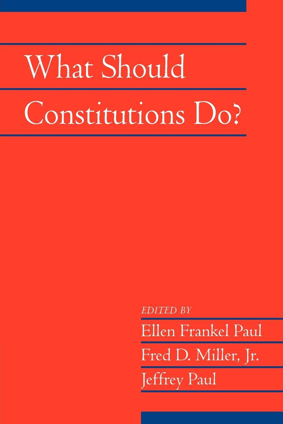 What Should Constitutions Do? EB9781139180207