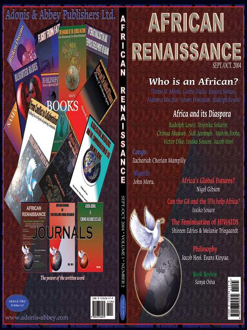 Who is an African? (African Renaissance, vol 1 No 2, 2004) EB9781905068685