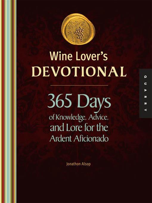 Wine Lover's Devotional EB9781610580984