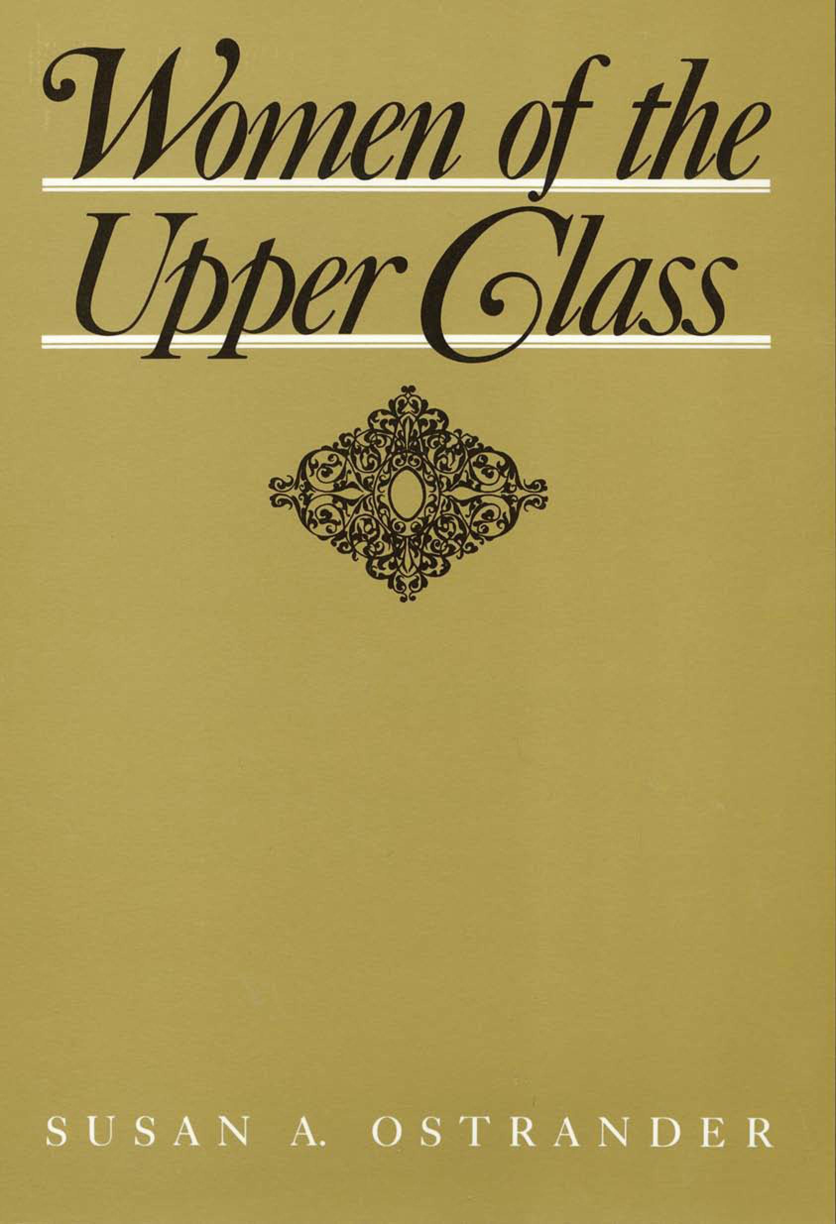 Women of the Upper Class EB9781439905371