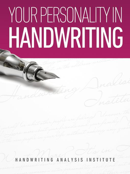 Your Personality in Handwriting (Handwriting Analysis Guide) EB9781608421398