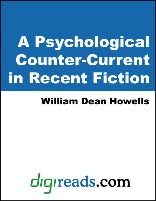 A Psychological Counter-Current in Recent Fiction EB9785551352266