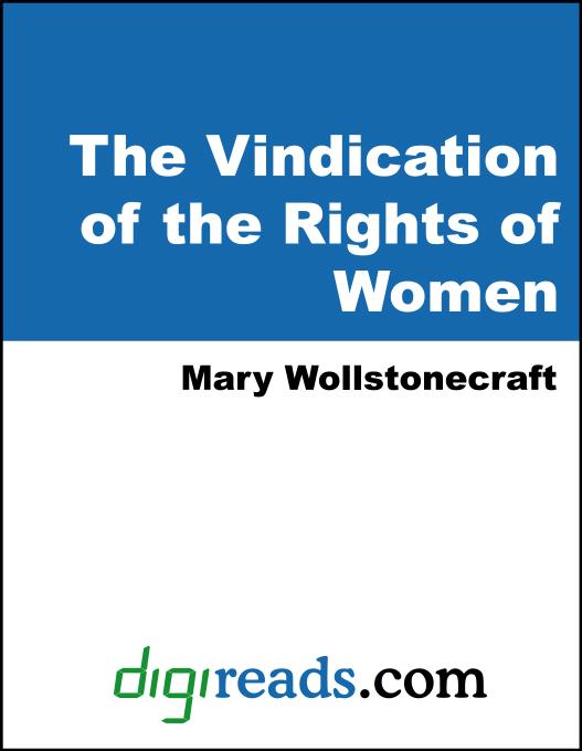 A Vindication of the Rights of Woman EB9785551324782