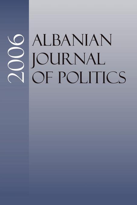 Albanian Journal of Politics: 2006 EB9785551602118