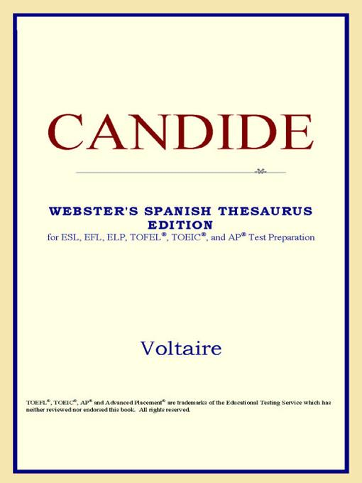 Candide (Webster's Spanish Thesaurus Edition) EB9785551552659