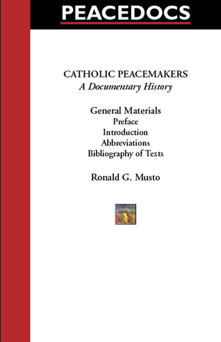 Catholic Peacemakers 1: General Materials EB9785551729488