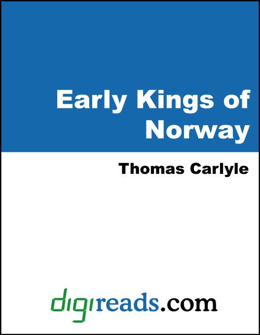 Early Kings of Norway EB9785551397540
