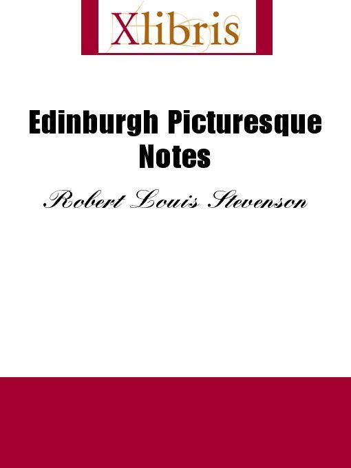 Edinburgh Picturesque Notes EB9785551066989