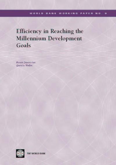 Efficiency in Reaching the Millennium Development Goals: EB9785551407393