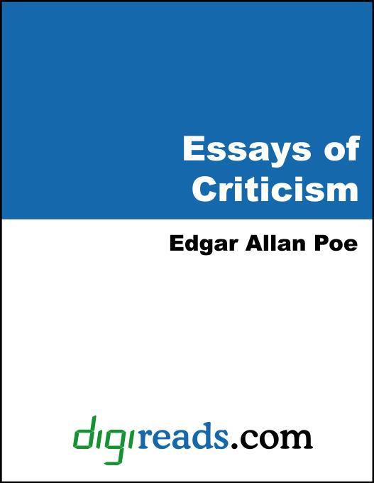 Essays of Criticism EB9785551383758