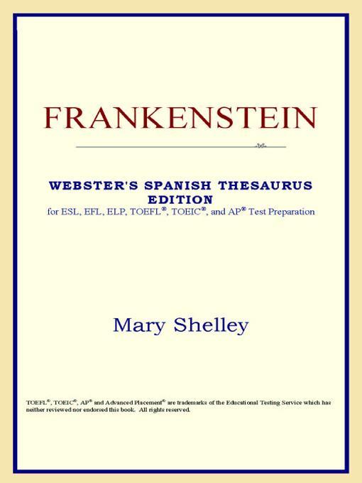 Frankenstein (Webster's Spanish Thesaurus Edition) EB9785551552383