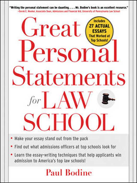 Law School Application Tips - The Personal Statement School is now