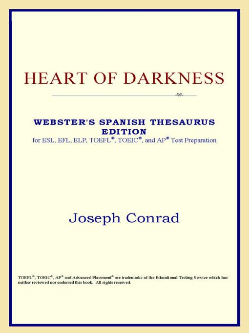 Heart of Darkness (Webster's Spanish Thesaurus Edition) EB9785551552253
