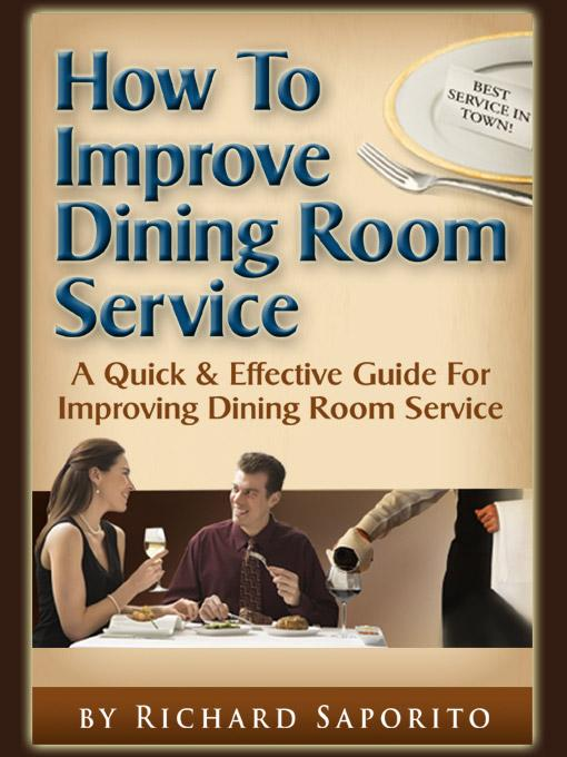 How to Improve Dining Room Service EB9785551568865