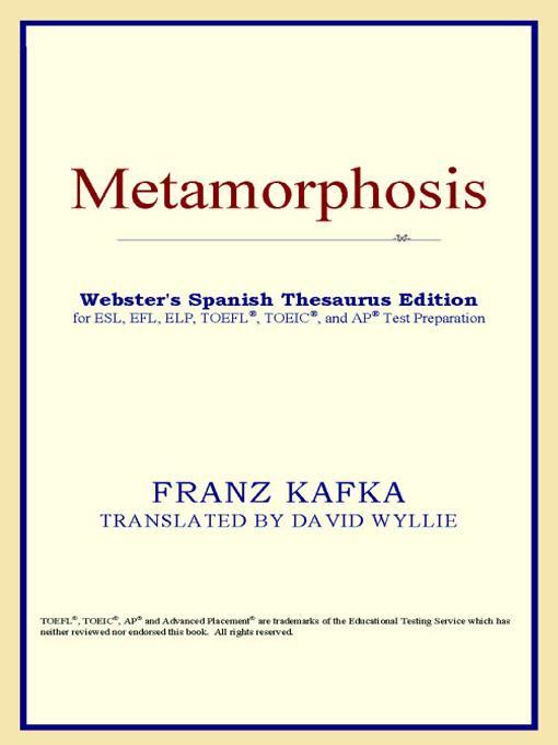 Metamorphosis (Webster's Spanish Thesaurus Edition) EB9785551551850