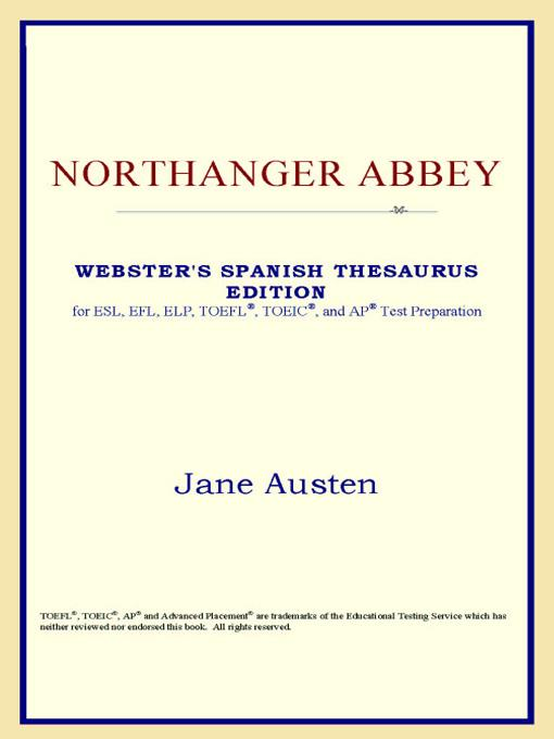 Northanger Abbey (Webster's Spanish Thesaurus Edition) EB9785551552178