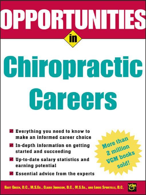 Opportunities in Chiropractic Careers
