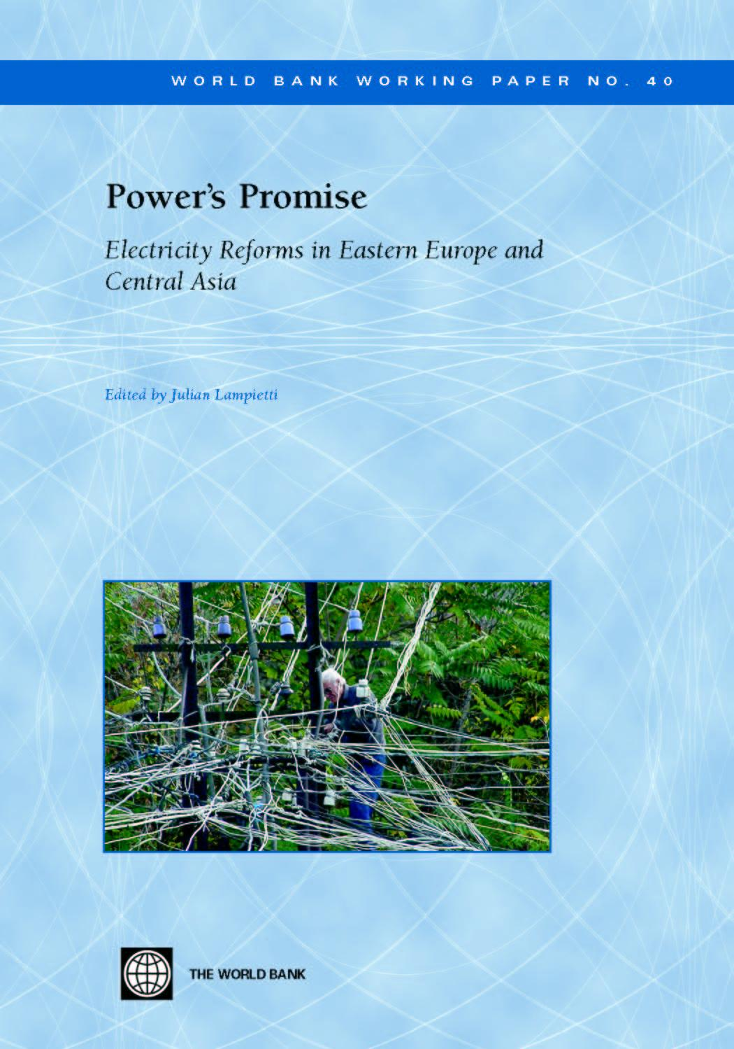 Power's Promise: Electricity Reforms in Eastern Europe and Central Asia EB9785551408529