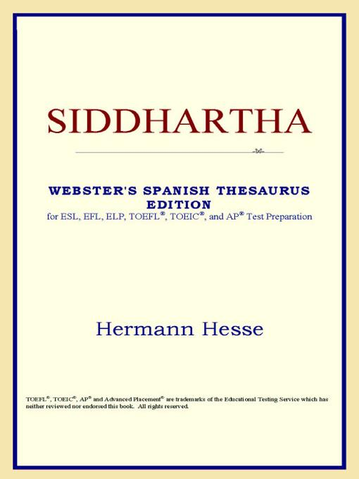 Siddhartha (Webster's Spanish Thesaurus Edition) EB9785551552086
