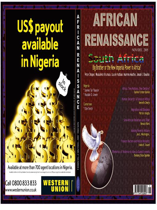South Africa: Big Brtoher or the New Imperial Power in Africa?(African Renaissance, Vol 2 No 6 2005) EB9785551588207