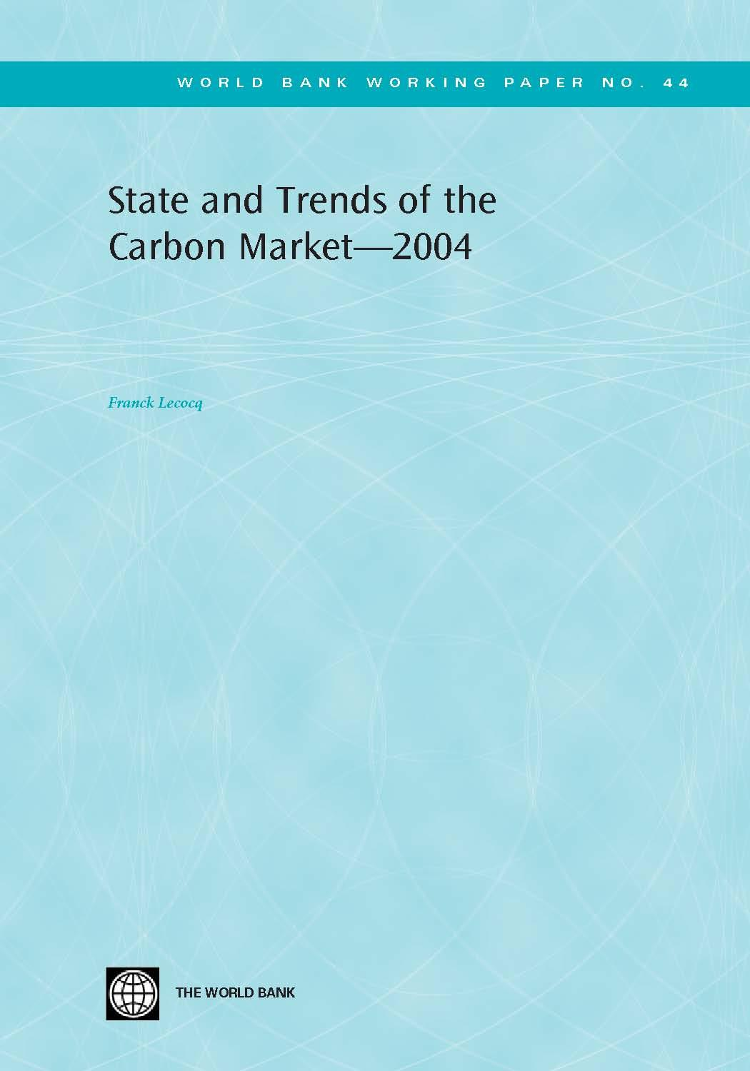 State and Trends of the Carbon Market 2004 EB9785551461715