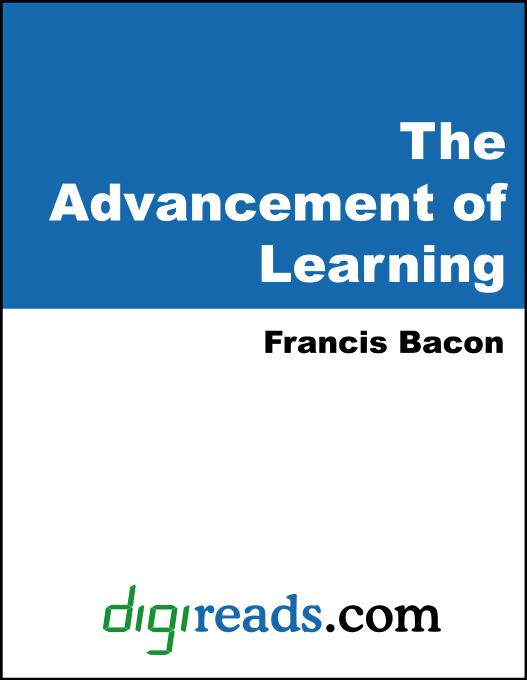 The Advancement of Learning EB9785551396208
