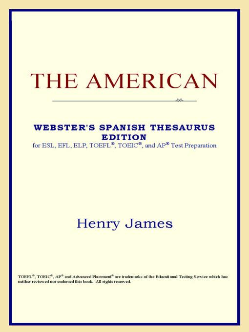 The American (Webster's Spanish Thesaurus Edition) EB9785551552031