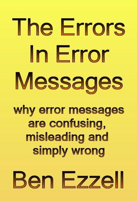 The Errors in Error Messages EB9785551287209
