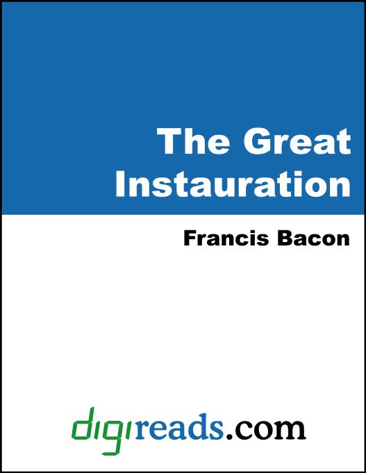 The Great Instauration EB9785551396215