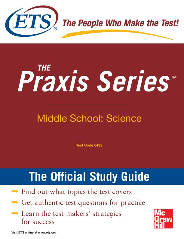 The Praxis Series Official Study Guide: Middle School: Science