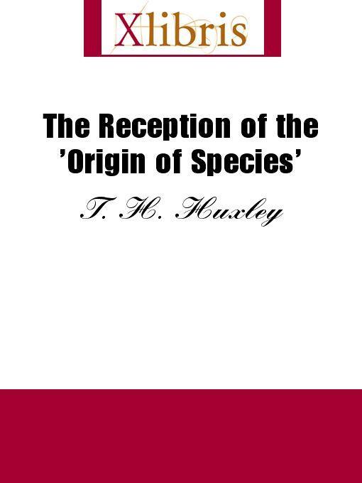 The Reception of the 'Origin of Species' EB9785551066699