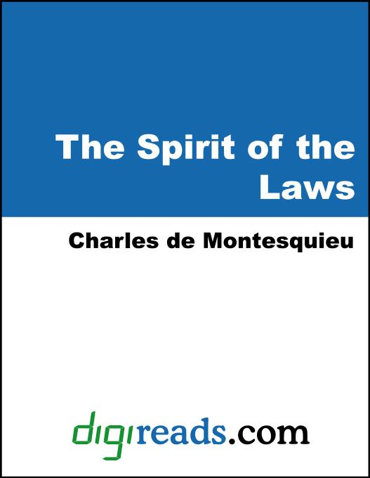 The Spirit of the Laws EB9785551383666