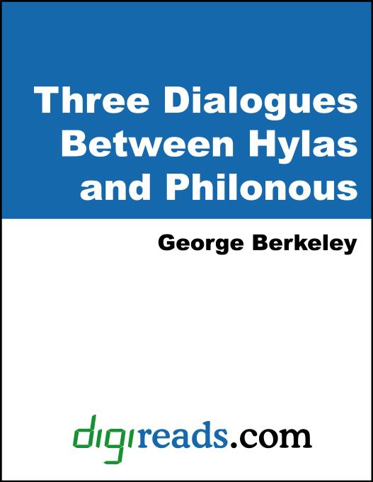 Three Dialogues Between Hylas and Philonous EB9785551333616