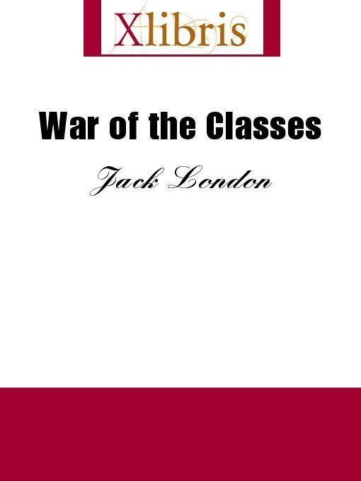 War of the Classes EB9785551066903
