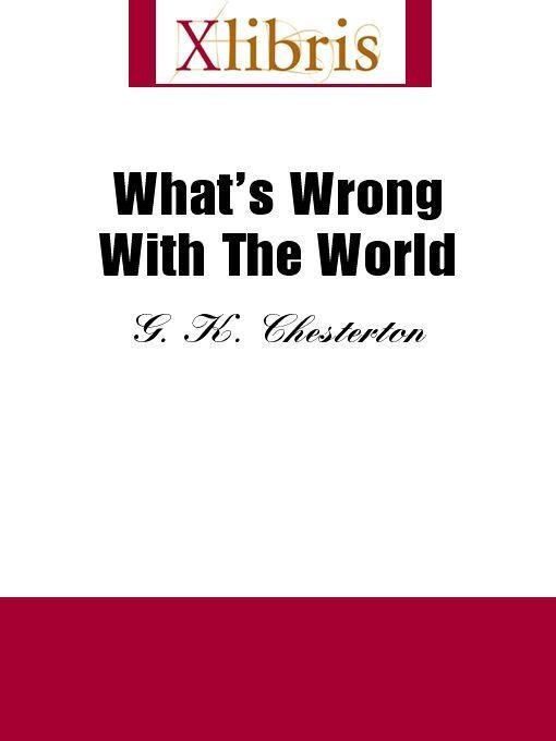 What's Wrong With the World EB9785551066125