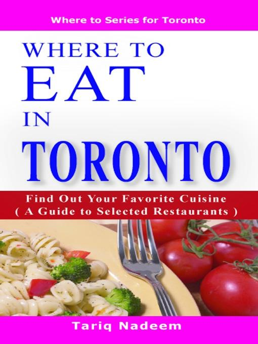 Where to Eat in Toronto EB9785551298526